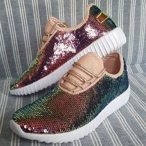 Rose Gold Chameleon sneakers